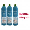 GAS R600a (isobutano) 3 x 420g BOTELLAS