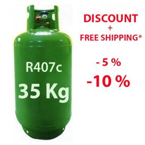 R407c R407 refrigerant gas 40 Kg refillable cylinder discount price